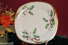 Lenox Holiday Nouveau Gold Square Lunch Accent Plate NEW USA ivory