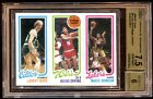 LARRY BIRD MAGIC JOHNSON 1980 TOPPS RC AUTO #D 5 10 GOLD INKS TOPPS CERTIFIED