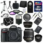 Nikon D7100 Digital SLR DSLR Camera +3 Lens 18-55 VR 16GB Full Complete Kit New