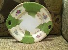 Unknown China Plate With Handles Hand Painted, Lovely Spring Flowers, Vintage