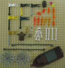 Lot LEGO PIRATE ACCESSORIES Skeleton Minifigure Boat Canoe Monster Fighter Bones