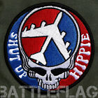 Dead Head Shut Up Hippie B-52 Morale Patch, Red White & Blue Barksdale AFB