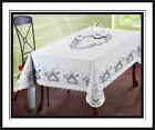 Beautiful Vinyl Lace Tablecloth 54x72 White Machine Wash-Dryer Safe-Great Value