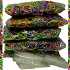 Qty 2400 RARE TIE DYE Rubber Bands + 100 Clips for Loom Rainbow Bracelets USA
