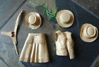 Vintage Louis Marx Jane West LOT - Tan - Gun Holster Belt - Hats - Skirt - Vest