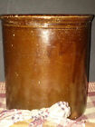 ANTIQUE REDWARE CROCK MAGANESE GLAZED