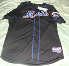 NEW YORK METS BLACK COOL BASE JERSEY MAJESTIC AUTHENTIC SIZE 44 NWT
