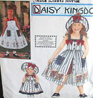Daisy Kingdom girls jumper dress pattern size 3 4 5 6 DOLL 18