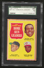 1962 TOPPS #54 N.L. HOME RUN LEADERS WILLIE MAYS BASEBALL CARD SGC 84 NM 7