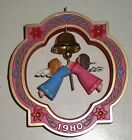 1980 Hallmark Christmas Ornament -HEAVENLY SOUNDS - ANGELS -  TWIRL-ABOUT - EC