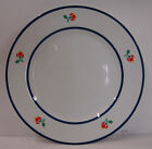 Fitz & Floyd FLEURI Dinner Plates BLUE TRIM FLORAL  More Items Available