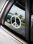 Peace Sign Decal vinyl window laptop car truck SUV bumper sticker 47 colors