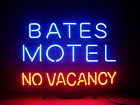 New BATES MOTEL NO VACANCY Real Glass Neon Light Sign Home Beer Bar Sign H140