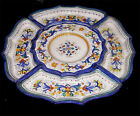 ANTIPASTA SET RICCO DERUTA PATTERN, 5 PCS HAND PAINTED IN ITALY DERUTA POTTERY