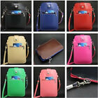 Zipper Shoulder Bag Leather Pouch Case For iPhone 6+ Plus 5.5'' Samsung Series