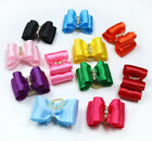 New Pet Hair Bows Mix Solid Color rhinestone Dog Bows Pet Grooming Products