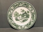 SYRACUSE CHINA PLATE 3 DINNER PLATES DECORATIVE GREEN SCENE
