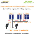 300w 300 Watt 3 100w Solar Panel Plug n Power Space Flex Kit 12v Battery OffGrid
