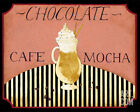 Cafe Mocha in Pink Art Poster Print by Dan Dipaolo, 10x8