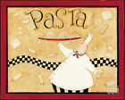 Pasta Chef Art Poster Print by Dan Dipaolo, 10x8