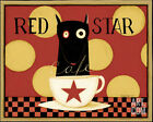 Red Star Art Poster Print by Dan Dipaolo, 10x8