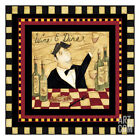 Wine and Dine II Art Poster Print by Dan Dipaolo, 13x13