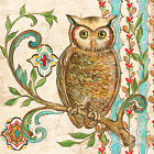 Treetop Owl I Art Poster Print by Kate McRostie, 12x12