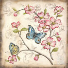 Le Jardin Butterfly I Art Poster Print by Kate McRostie, 12x12