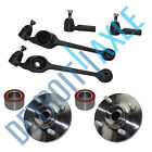 NEW 2 Front Lower Control Arm and Ball Joint + 2 Wheel Hub Bearing + 2 Tie Rod