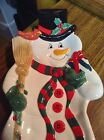 2006 Fitz and Floyd Snowman Snack Therapy Server Tray, Wall Hanging New in Box