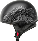 New Gmax Gm65 Rose Womens Half Dot Motorcycle Helmet Harley indian scooter