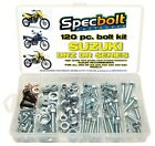 120pc Bolt Kit Suzuki DRZ DR 100 110 125 200 250 350 DR-Z400 650 SM Maintain 400