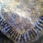 WAVERLY GARDEN TOILE BLUE INDIGO Ruffle 36 x 36 Grandmas Estate