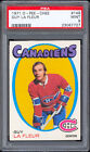 1971-72 O-Pee-Chee #148 Guy Lafleur Rookie Card PSA 9 MINT Well centered