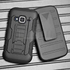 For ZTE Concord 2 II Z730 Hybrid Rugged Armor Impact Hard Case Cover Holster