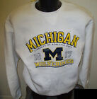 Michigan Wolverines Est 1817 Sweatshirt WHITE Screened Logos Size LARGE