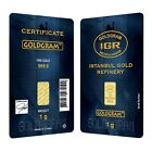 1 gram Istanbul Gold Refinery Bar .9999 Fine (In Assay)