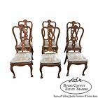 Hickory Co. Italian Style Set of 6 Faux Tortoise Shell Painted Dining Chairs