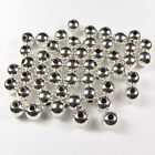 925 sterling silver round SEAMLESS bead spacers made in USA