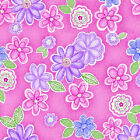Cotton Candy Flannel by Studio E Fabrics - Tossed Flowers - Pink