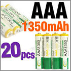 20 pcs AAA Size 3A LR03 R03 1350mAh 1.2V Ni-MH Rechargeable Battery Cell/RC BTY