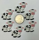 6PC DOWN on FARM COW PIG TURKEY FLAT BACK FLATBACK RESINS 4 HAIRBOW BOW CENTER