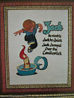 Marion Nichols JACK BE NIMBLE Child Nursery Rhymes Crewel Embroidery Kit Linen