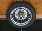 Used Chrome 16 x 3 Twisted Spoke Front Wheel w/ Dunlop 402 Tire