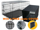 Dog crate puppy pet cage with free cover tent tray new kennel outdoor indoor