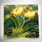 Minton decorative wall tile - yellow flowers - FREE SHIPPING