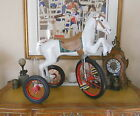 CAST IRON LEAPING HORSE VELOCIPEDE TRICYCLE FROM JAPAN - PROFESSIONALL