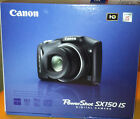 Canon SX150 IS 14.1MP Digital Camera with 12x Optical Zoom – Black