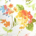 CYNTHIA ROWLEY WATERCOLOR FLORAL QUEEN QUILT SET PASTEL WHITE YELLOW ORANGE FULL