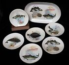 Rare KAHLA GDR GERMANY Fish Pattern OVAL SERVER PLATTER TRAY-Six 7.5